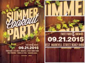 Cookout Flyer Template by Summer Cookout Flyer Template Flyerheroes