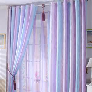 Discount purple baby blue lines cool curtains