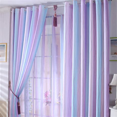 %name Turquoise Color Curtains   Discount Purple/Baby Blue Lines Cool Curtains