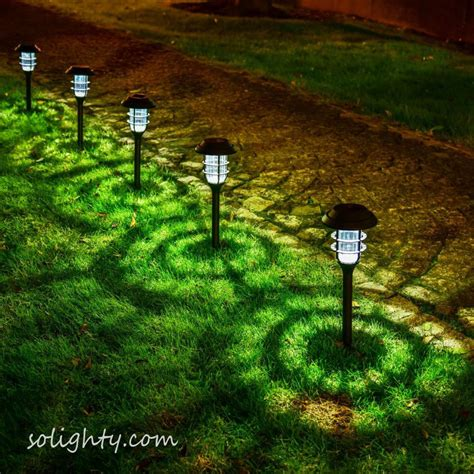 Garden Lights Solar - 1 pack outdoor solar powered pathway lights violet led