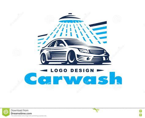 Car Wash Logo Design With Shower Icon Vector Illustration Cartoondealer Com 89133944 Auto Detailing Logo Template