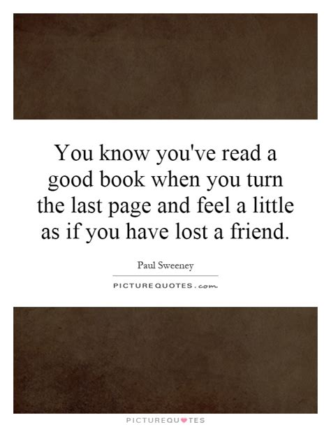 if you knew a novel books you you ve read a book when you turn the last