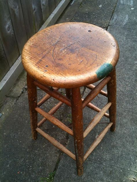 seattle junk sold schoolhouse wooden stool 30