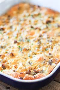 easy sausage and cheese breakfast casserole