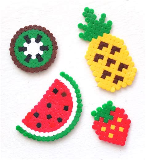 hama bead patterns diy gift idea fruit keyrings my poppet makes