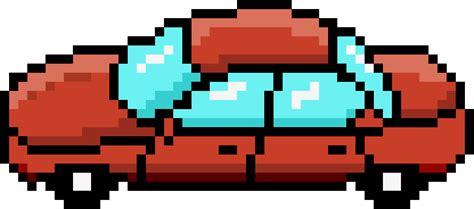 pixel car clipart pixel car red