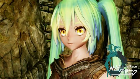 skyrim anime mod girls anime race lite at skyrim nexus mods and community