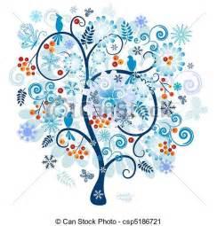 clip vecteur de hiver d 233 coratif arbre hiver arbre