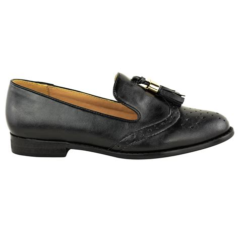 womens tassel loafers womens flat tassel loafers brogues shoes tartan