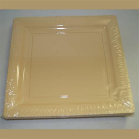bicchieri quadrati piatti quadrati monouso in plastica semirigida avorio
