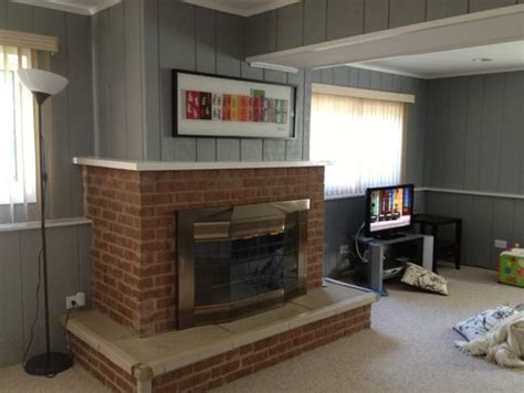 Modernize Brick Fireplace by How To Update This Dated Brick Fireplace