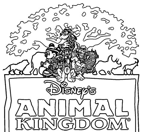 Animal Kingdom Coloring Pages printable disney coloring pages animal kingdom printable