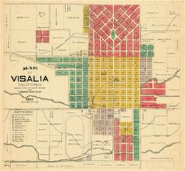california 1892 visalia tulare county stock illustration