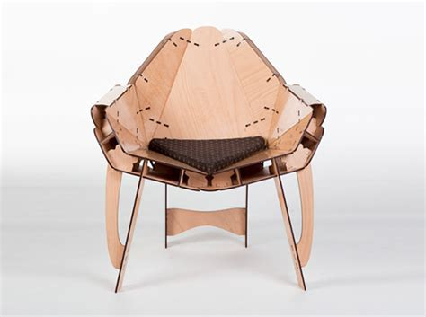 Flat Laser Eco this flat pack laser cut furniture assembles without glue