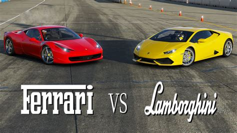 Lamborghini Vs Ferrari by Ferrari Vs Lamborghini Youtube