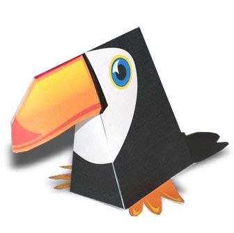 mascara de papel de un tucan manualidades a raudales p 225 gina 46 de 272 papercraft