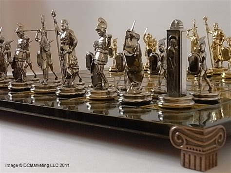 metal chess set a palais royale gilt metal and of pearl miniature