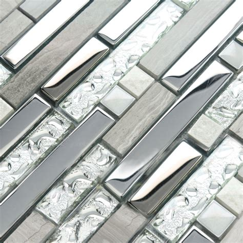 mirror backsplash tile wholesale mosaic tiles mirror silver metal pattern wall