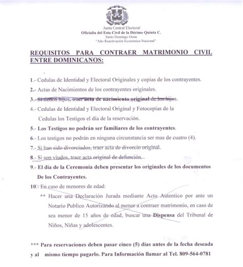 documentos para casarse en una tapita de ron requisitos para contraer matrimonio