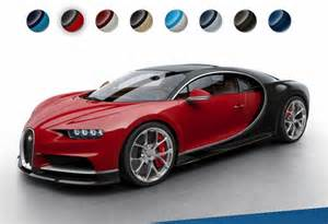 Bugatti Veyron Configurator See The Bugatti Chiron In More Colors Thanks To Configurator