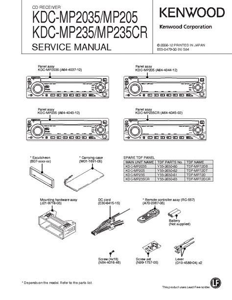 kenwood kdc mp2035 kdc mp205 kdc mp235 kdc mp235cr service