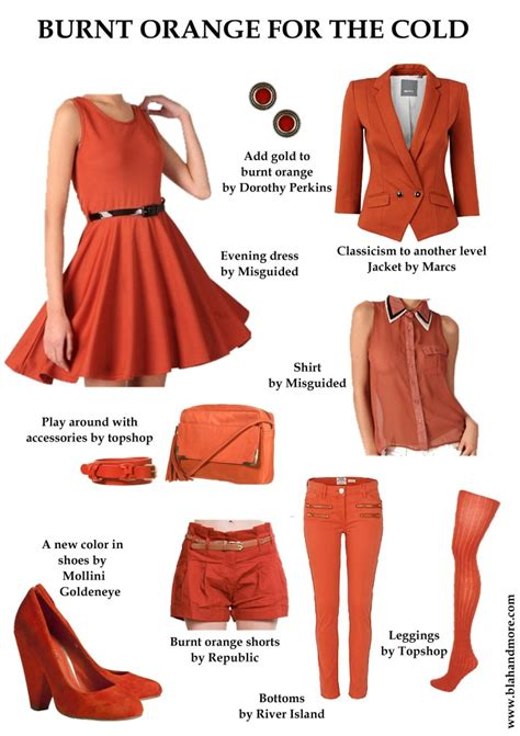 what colors go with burnt orange burn up the cold with burnt orange blah and more
