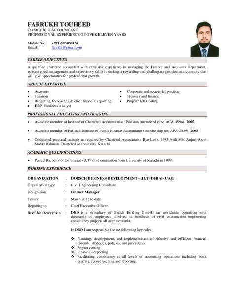 Resume Format For Freshers In Airlines by Cv Farrukh Touheed Aca