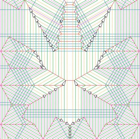 Crease Pattern Origami - origami crease patterns v geometric