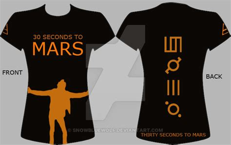 Tshirt 30second To Mars 30 seconds to mars t shirt 2 by snowbluewolf on deviantart