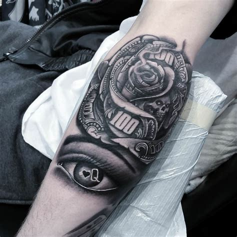 money rose tattoo design tattoos and on