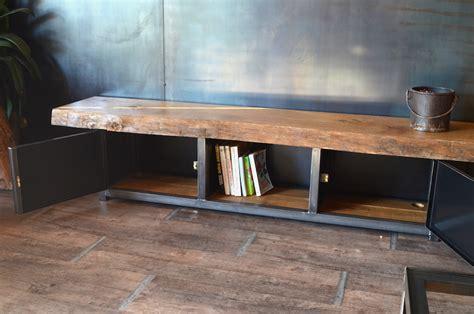 Superbe Table Basse Bois Massif #7: 202meuble-banc-bois-massif-industriel.JPG
