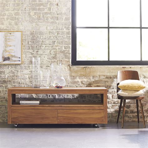 movable tv stand living room furniture buy teak tv stand anoa tv furniture at tikamoon