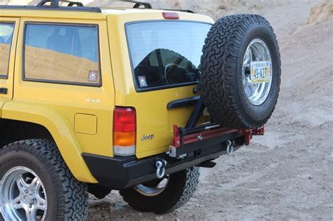 Jeep Xj Rear Tire Carrier Xj Rear Bumper With Spare Tire Carrier By Rock