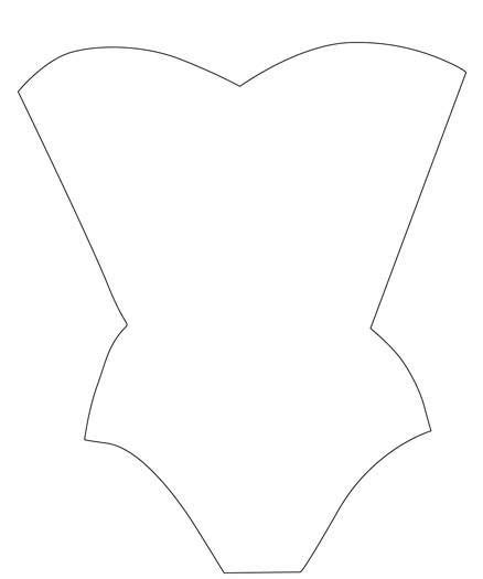 corset templates for card making pinterest