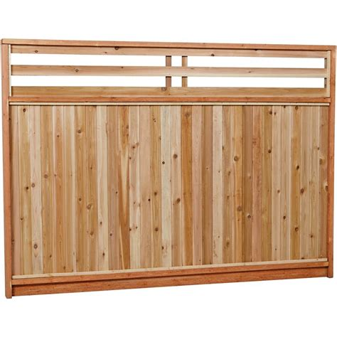 17 home depot cedar fence panels decor23