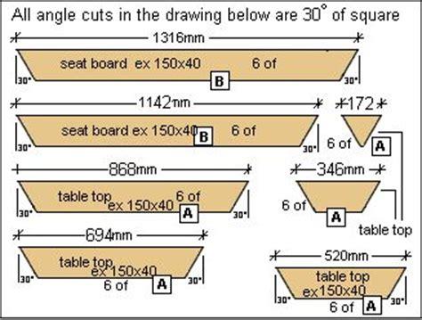 build  large octagon picnic table plans diy