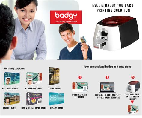 badgy card templates printers evolis badgy100 card printing solution evolis