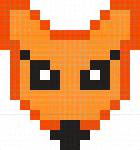 big perler bead patterns large foxy perler bead pattern bead sprites