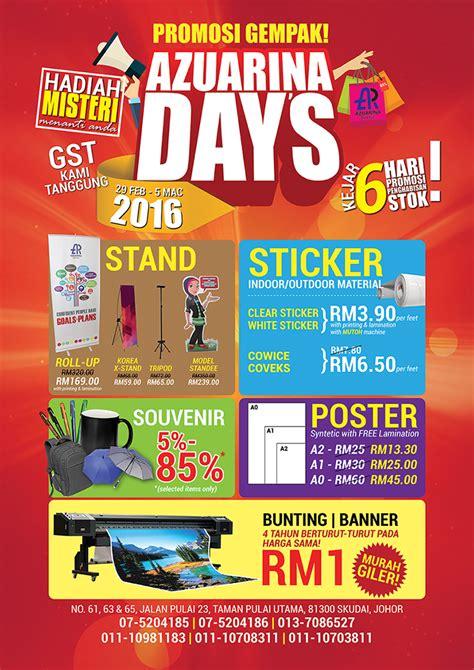 design banner promosi printing bunting banner souvenir promotion azuarina