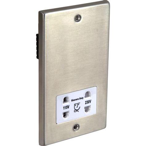 shaver socket wiring satin chrome shaver socket dual voltage white insert