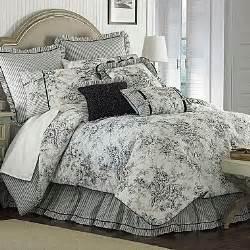 Toile Bedding Sets Black And White Floral Toile King Comforter Set Black White New Nib
