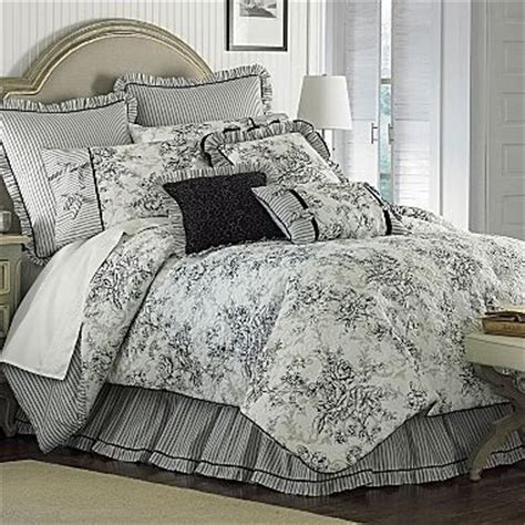 country bedroom comforter sets floral french toile king comforter set black white new nib