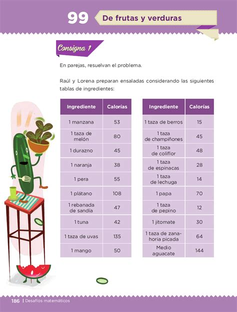 respuestas del libro de matemticas 5 grado sep pag 76 de frutas y verduras desaf 237 os matem 225 ticos 4to bloque 5