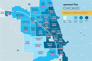 Chicago Metro Area Map by March Rent Report Reveals More Renters Average