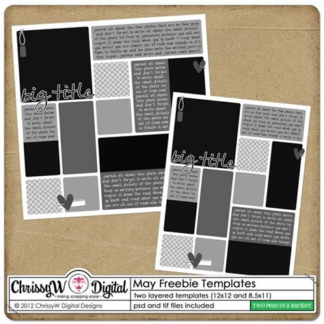 Digital Scrapbooking Card Templates by 17 Best Images About Digital Scrapbook Freebies On
