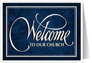 welcome to our church card 32021 ministry greetings