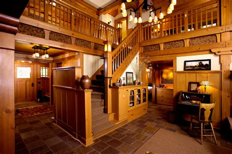 arts and crafts interior design arts crafts cottage craftsman staircase