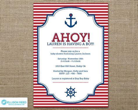 Free Printable Nautical Baby Shower Invitations Nautical Baby Shower Invitations Templates