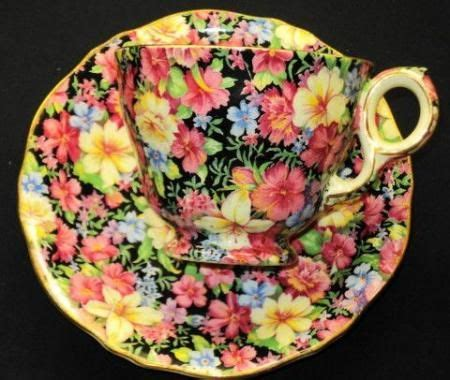 Motif Florence Pink details about royal winton florence pink yellow blue black chintz tea cup and saucer florence