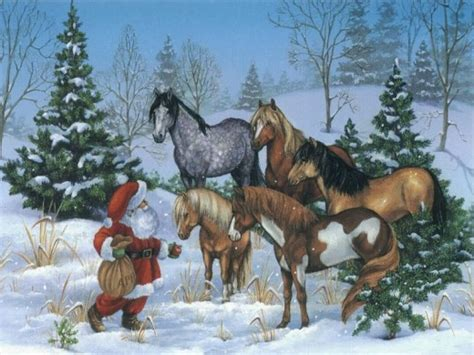 Christmas Wallpaper With Horses | christmas and horse wallpapers